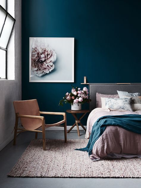 PINK AND BLUE LIVING ROOM GLAMOROUS HIPPE
