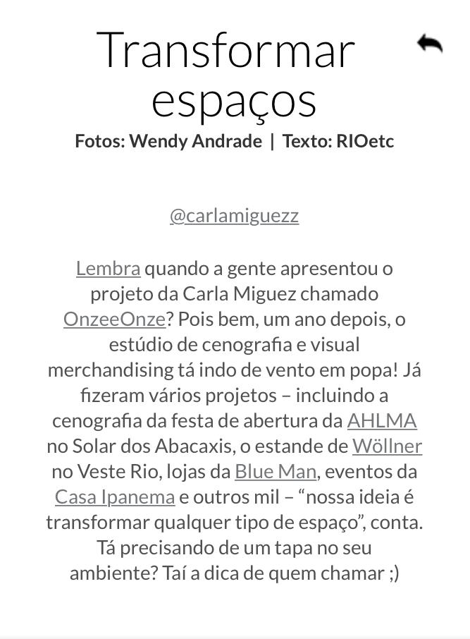 RioEtc_Outubro 2017 - Nossa cofundadora fala um pouco sobre o OnzeeOnze Studio para o blog RioEtc!