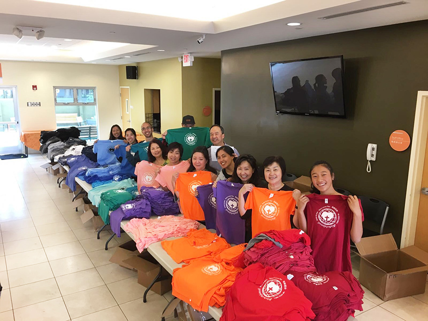 Giving thanks to a T-shirt company that donated 1,500 new shirts for our Cambodia missions trip. This year we can bring new clothing to give to the girls' school, girls' home and community. It was great teamwork sorting, counting & distributing to each team member so each can carry in their luggage and deliver to Cambodia. - Margie F.