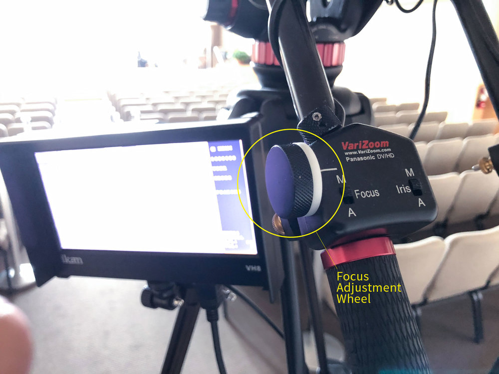 Focus adjustment wheel. It is sensitive.