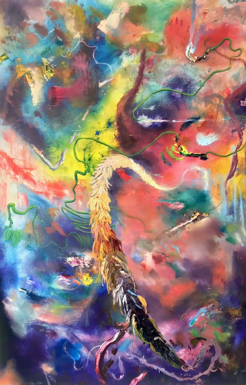 WHEN I CLOSE MY EYES, oil on canvas, 48 x 72 inches, 2018
