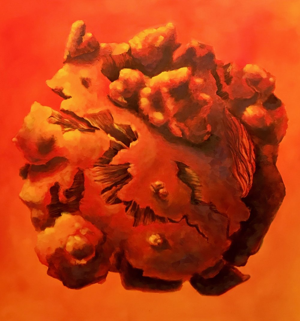 CONFINEMENT, oil on canvas, 60 x 60 inches, 2018