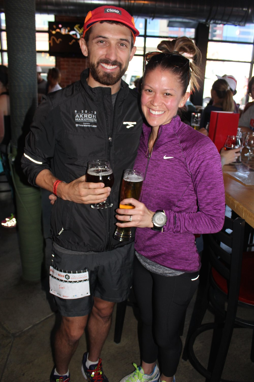 Connor and Betsy Ferguson attended five out of nine Colorado Brewery Running Series this season.