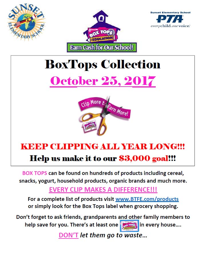 Download Boxtop collection sheet here