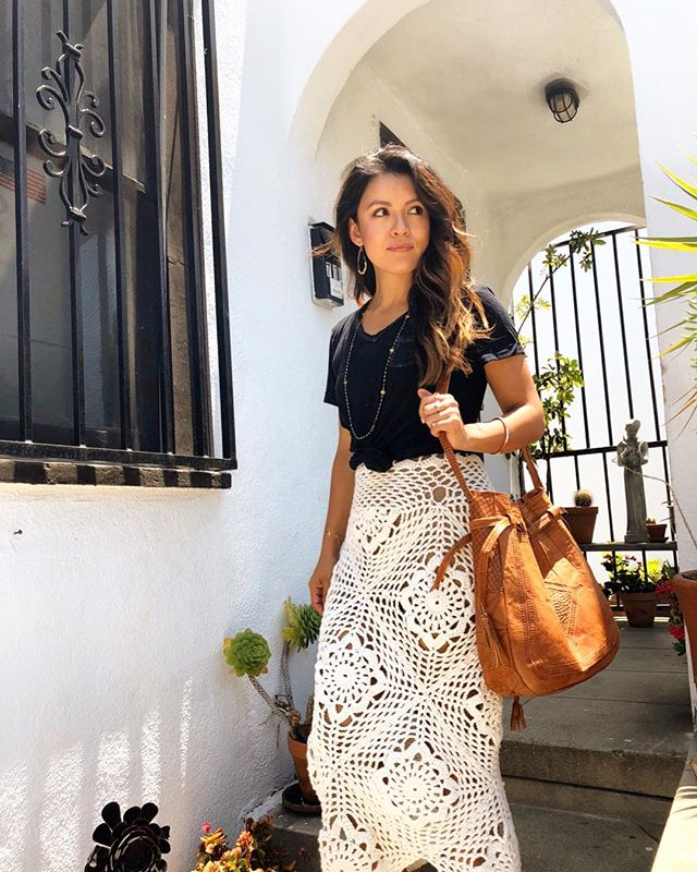 Feeling this @namaste_and_crochet skirt with the warm summer vibes in LA ☀️ PC: @namaste_and_crochet