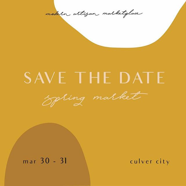 Are you joining us at the @modernartisanmarketplace ? 💛✨It's going to be an amazing weekend at @platform_la March 30+31st with some amazing vendors, check out their website for more info!! Can't wait to see you all there 😊