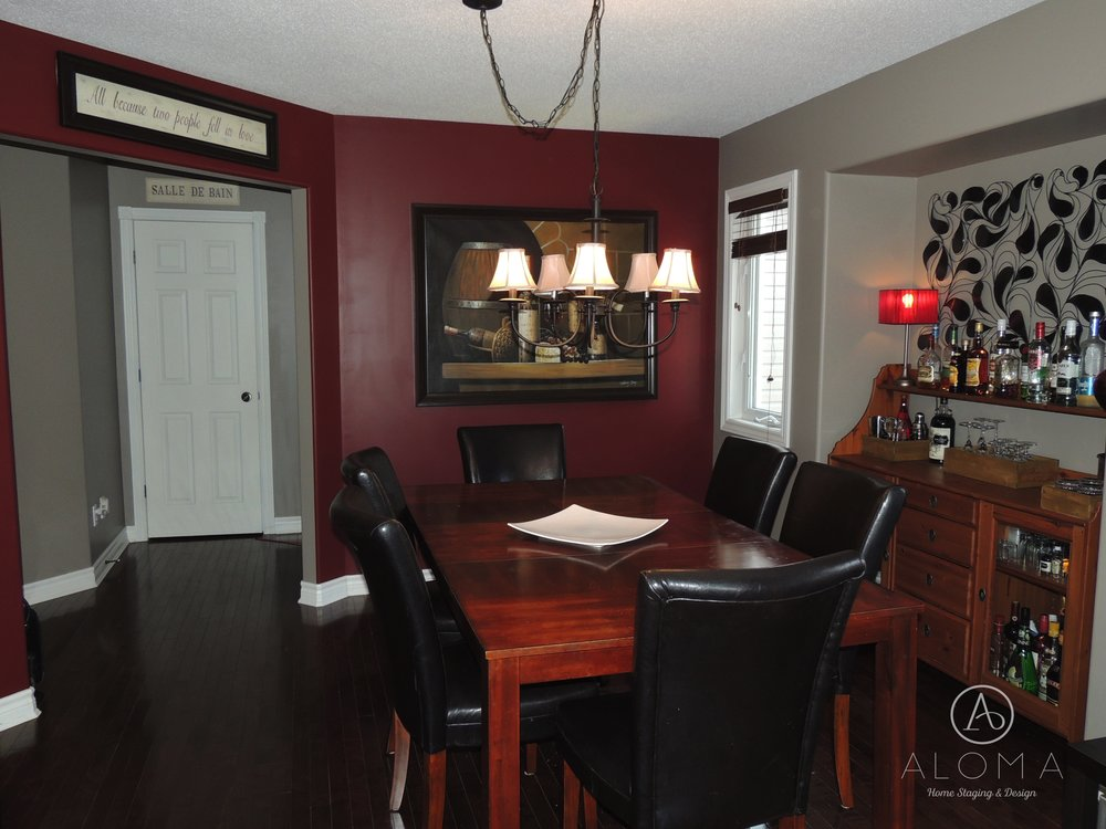 Before-Dining room- ALOMA Home Staging & Design