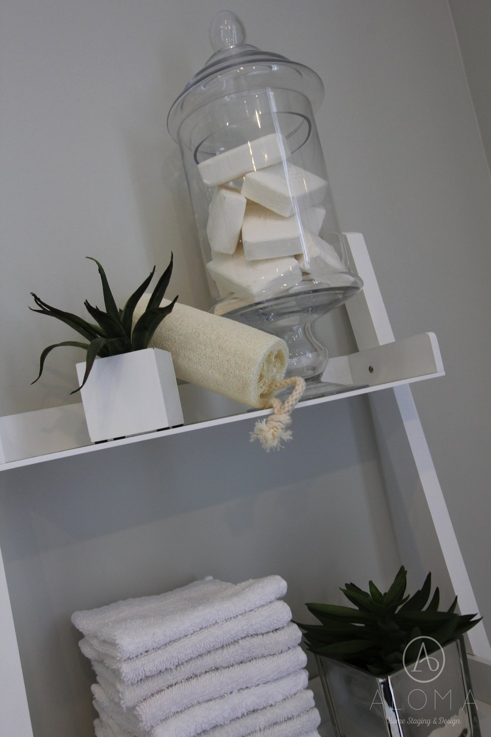 Soap in glass jar by ALOMA Home Staging & Design