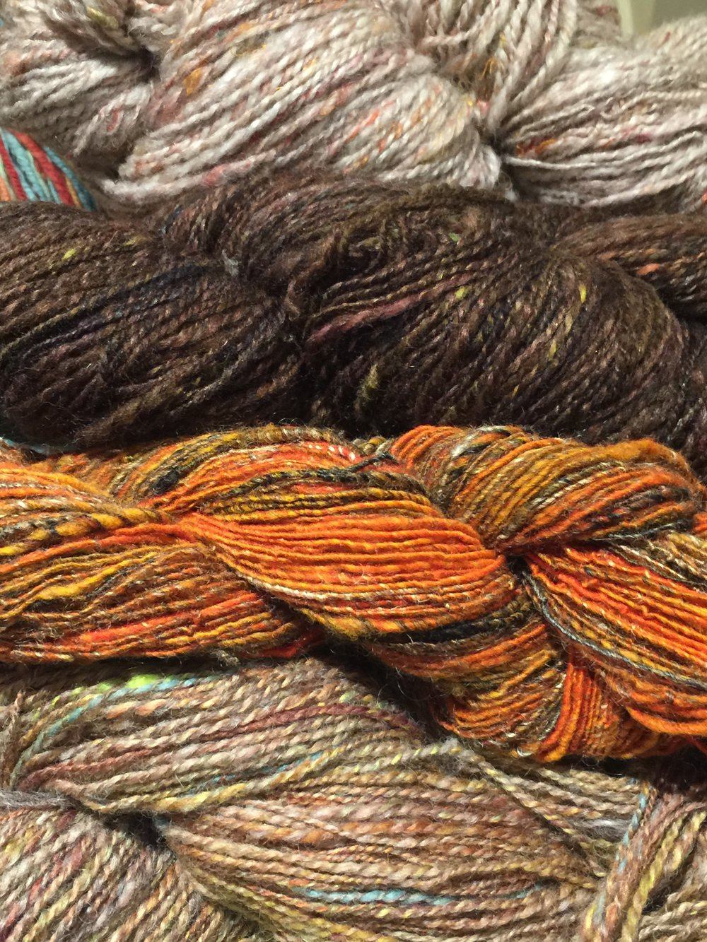 bunch of handspun.JPG