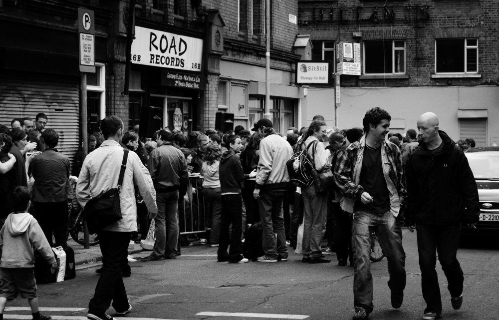 Underground launch, Fade Street, Dublin, 2008. photo courtesy Ros Kavanagh