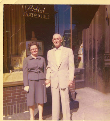 My grandparents, Mary & Ben Conaty near their building in Greenwich Village, NY in the late 50's.