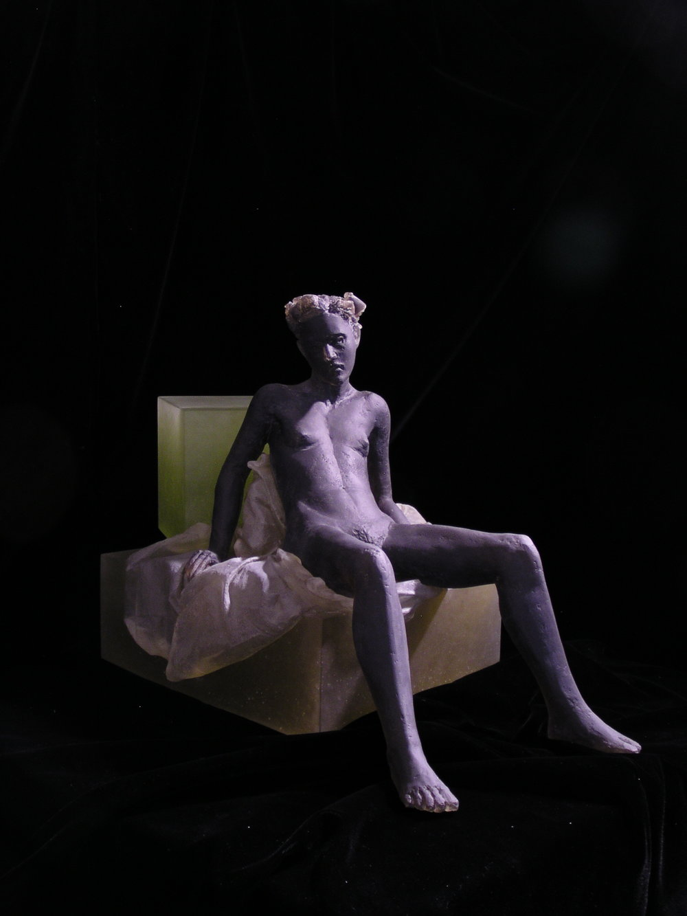 Untitled (girl on cubes, reclining)