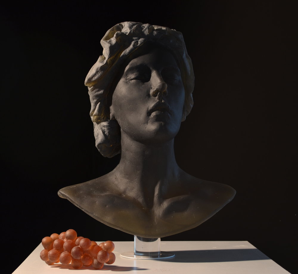 Untitled (bust with grapes)