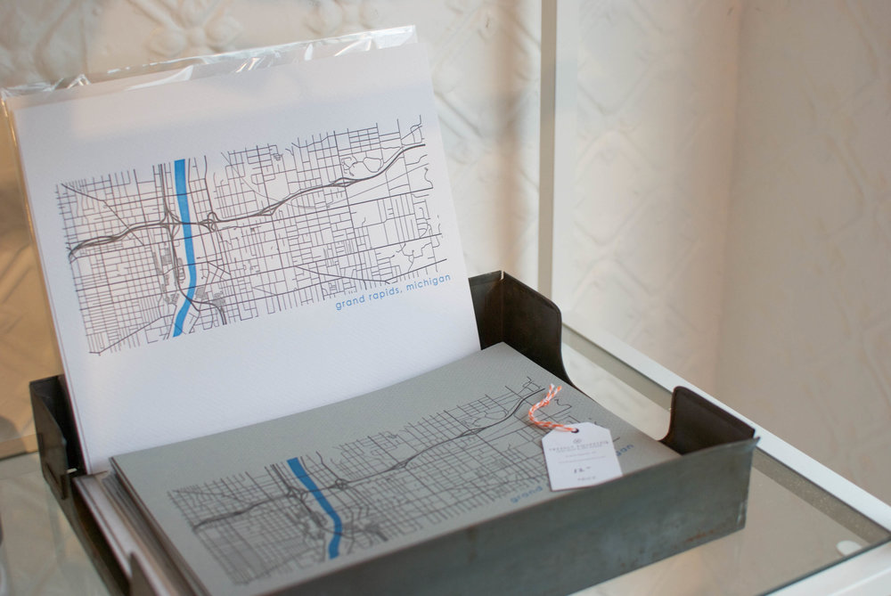 sincerely ashley profile | freshly squeezed letterpress grand rapids map