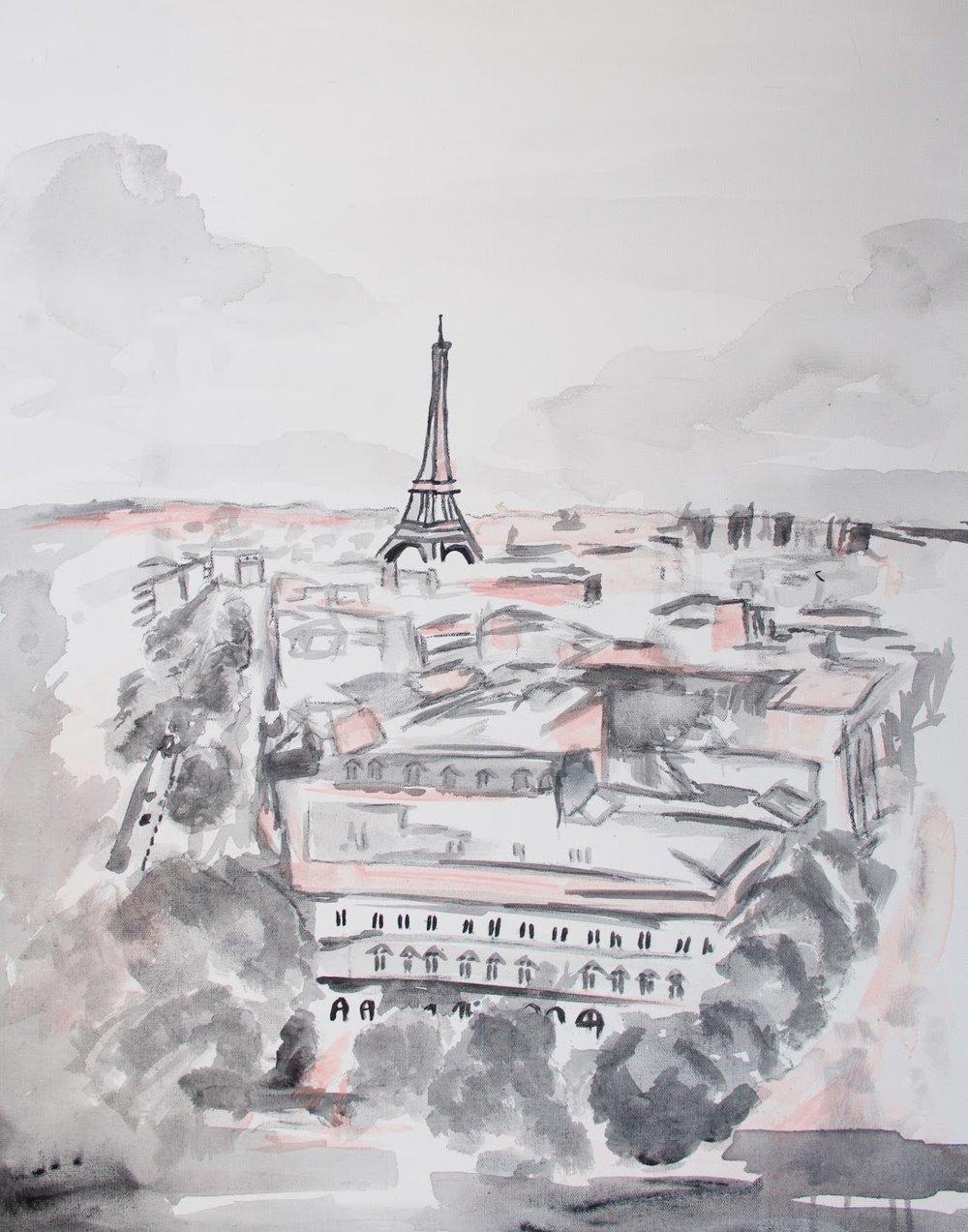 sincerely ashley | jasmine wisz painting-paris