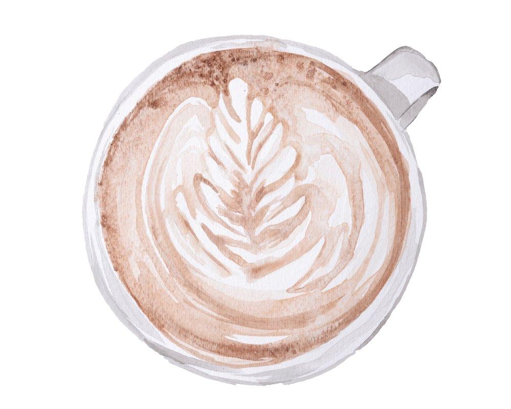 sincerely ashley | jasmine wisz painting latte