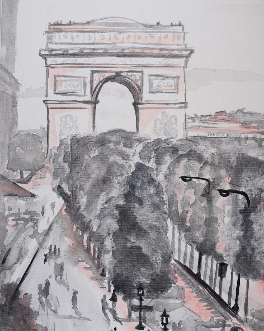 sincerely ashley | jasmine wisz painting-arch