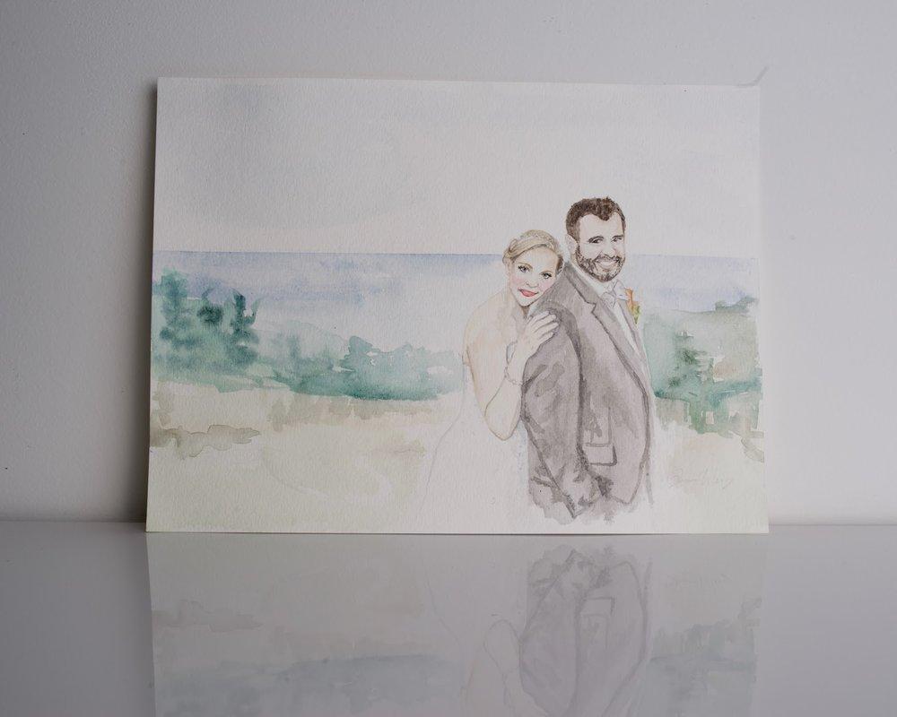 sincerely ashley | jasmine wisz painting-wedding portrait