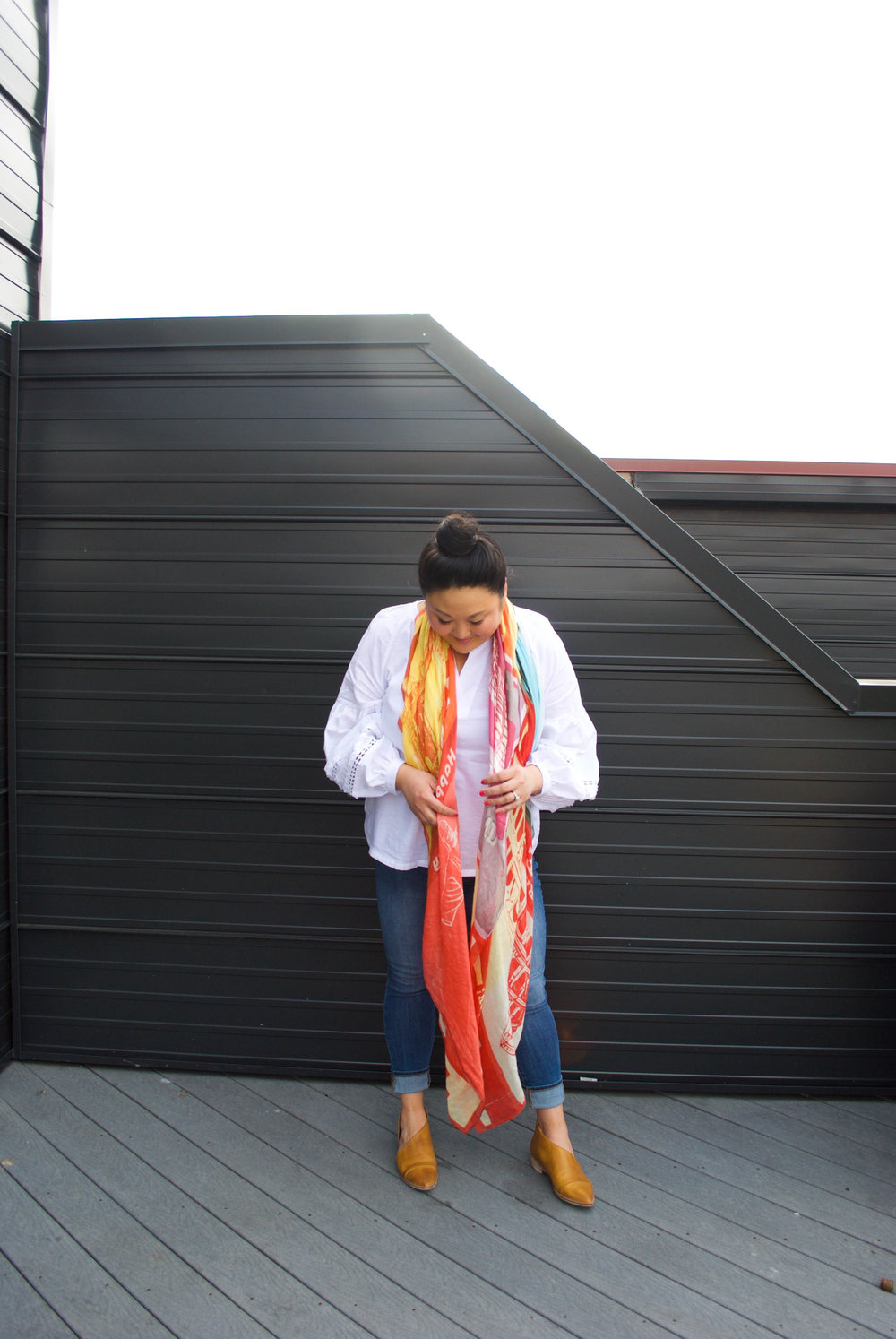 sincerely ashley | scarf-outfit
