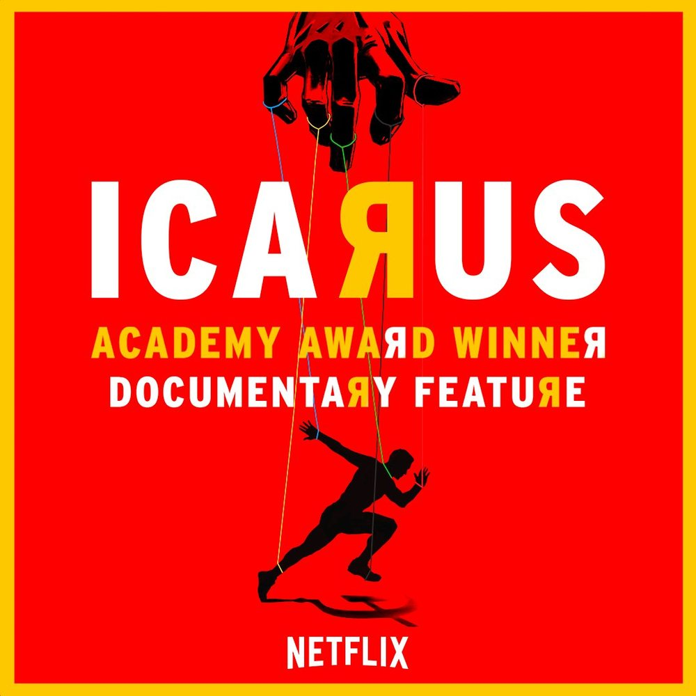 Icarus | Documentary - SO GOOD. Bryan Fogel explores the doping epidemic in the cycling world and ends up uncovering a much larger scandal involving the Russian government, a historic whistleblower, and the Olympics. This one will have you at the edge of your seat as this mild mannered filmmaker navigates his way through a complicated conspiracy of international scale. It deservedly won an Oscar for Best Documentary Feature.
