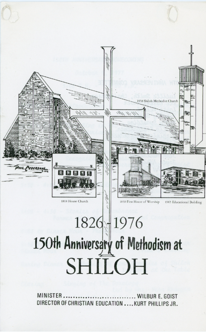 150 Anniversary Booklet Cover depicting the buildings.  Photo Courtesy of the Delhi Historical Society, all rights reserved.