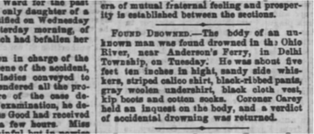 Newspaper article from around August 24, 1865, that could be referring to Franciscus M. Kuper.