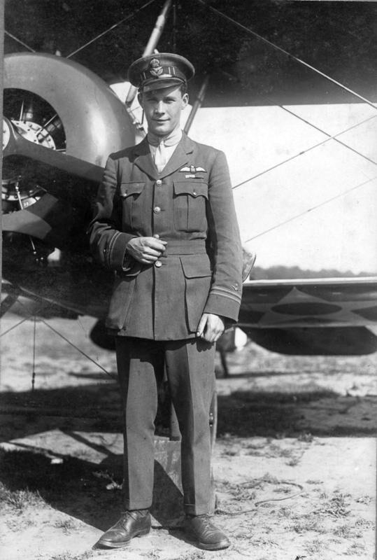 Captain James Fitsmorris with plane.