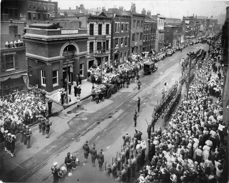 Funeral Procession in Cincinnat.