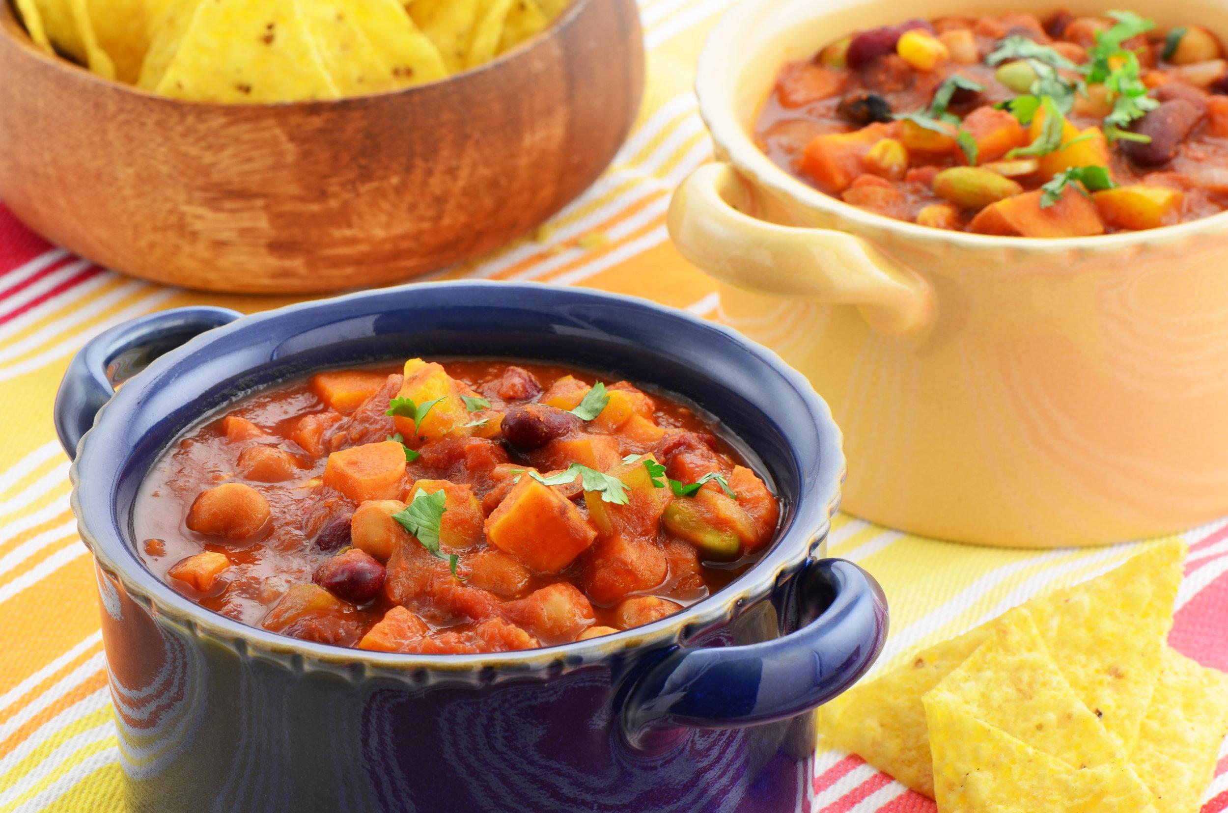 3 Bean Chili & Cornbread - DTG Image
