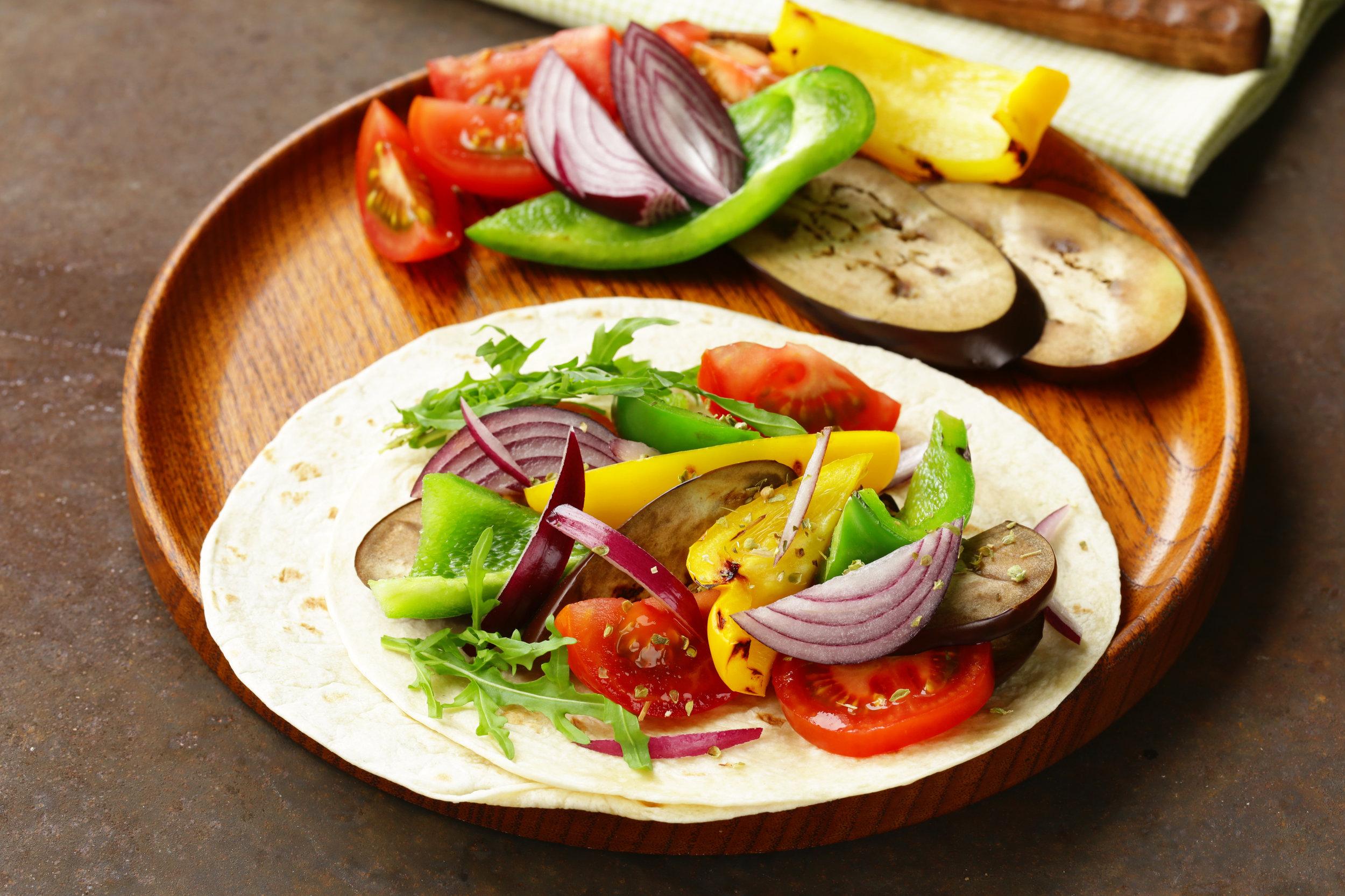 Spicy Veggie Fajitas - DTG