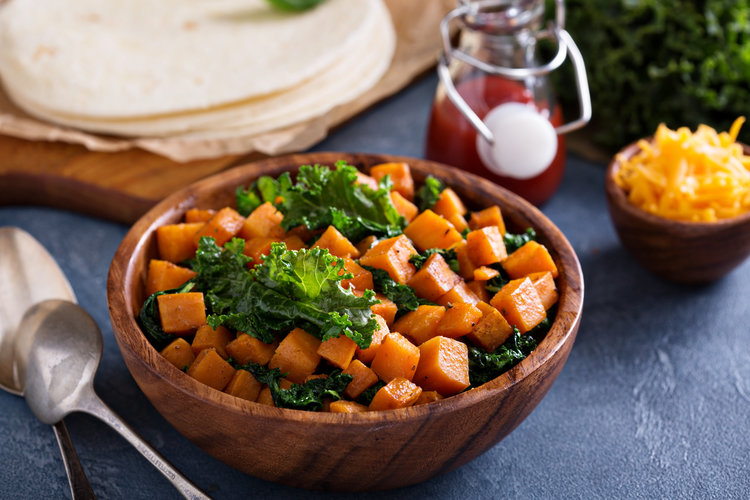 Chipotle Roasted Butternut Squash & Greens Tacos - DTG Image
