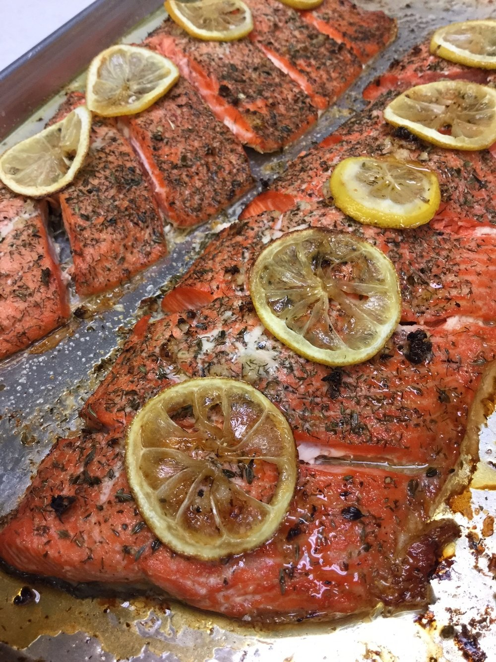 Roasted Wild Copper River Salmon