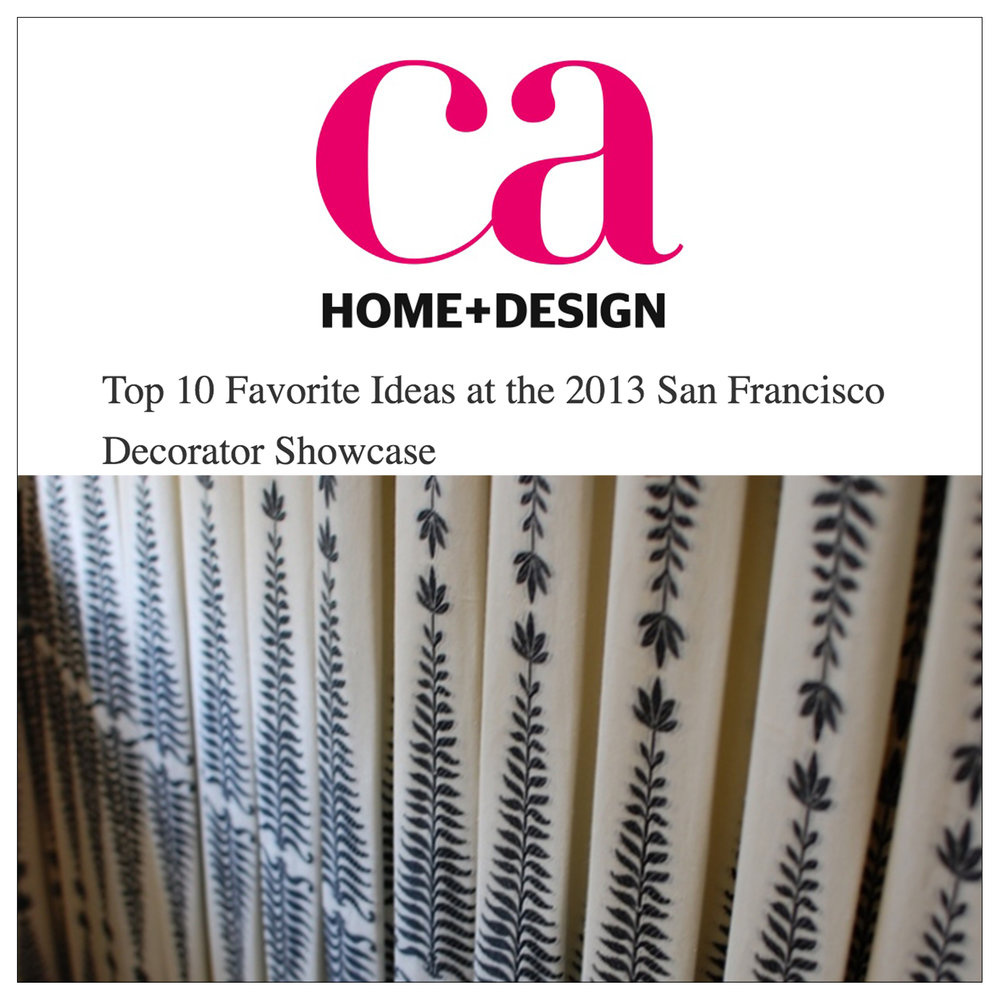 California Home + Design   2013   Top 10 Favorite Ideas at the 2013 San Francisco Decorator Showcase