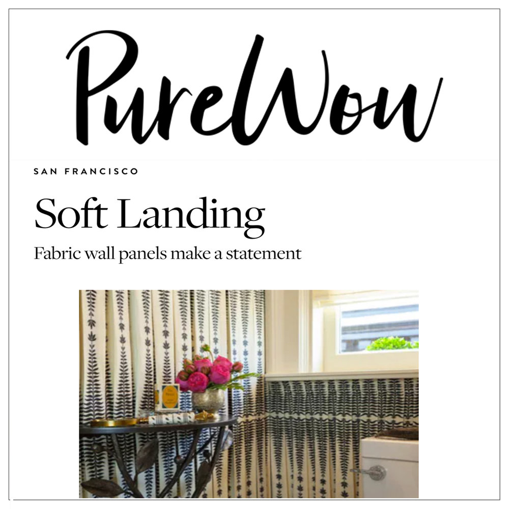 Pure Wow   2013   Fabric Wall Panels Make A Statement