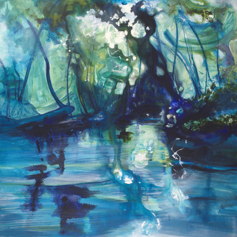 Sapphire Forest Reflections - 36x36 - available