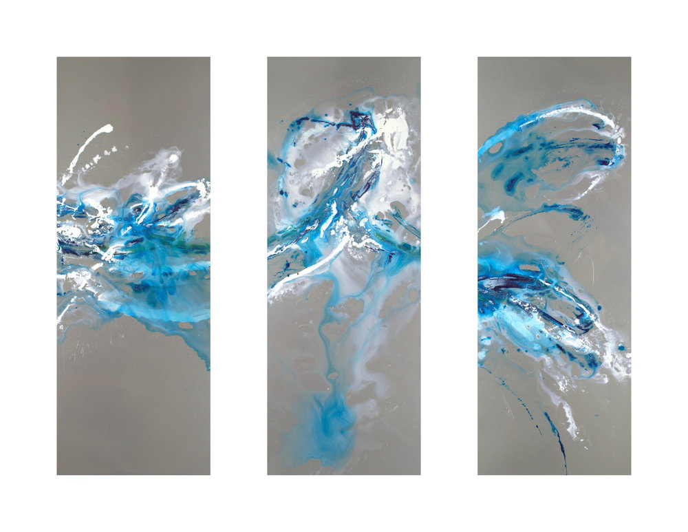 Splash of Royal Blue - 31 x 45