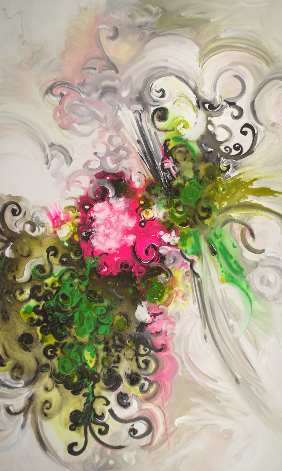 Neon Blooming I - 60x36 - available