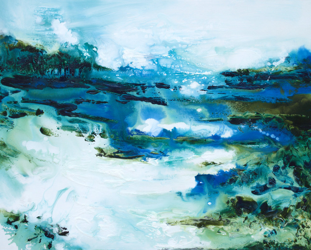 Sapphire Streams - 48x60 - available