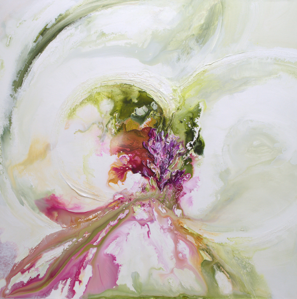 Flowing Botanical - 36 x 36 - available