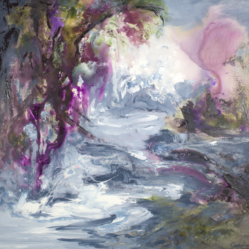 Purple Lake Illumination - 36 x 36