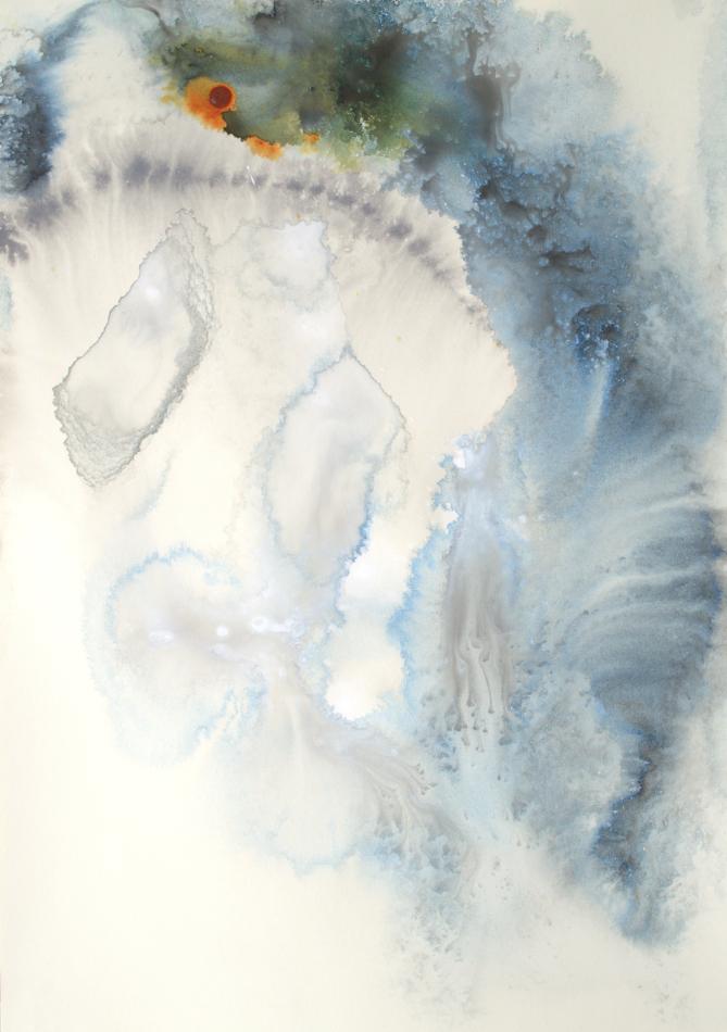 Cool Gray Water II - 20 x 14