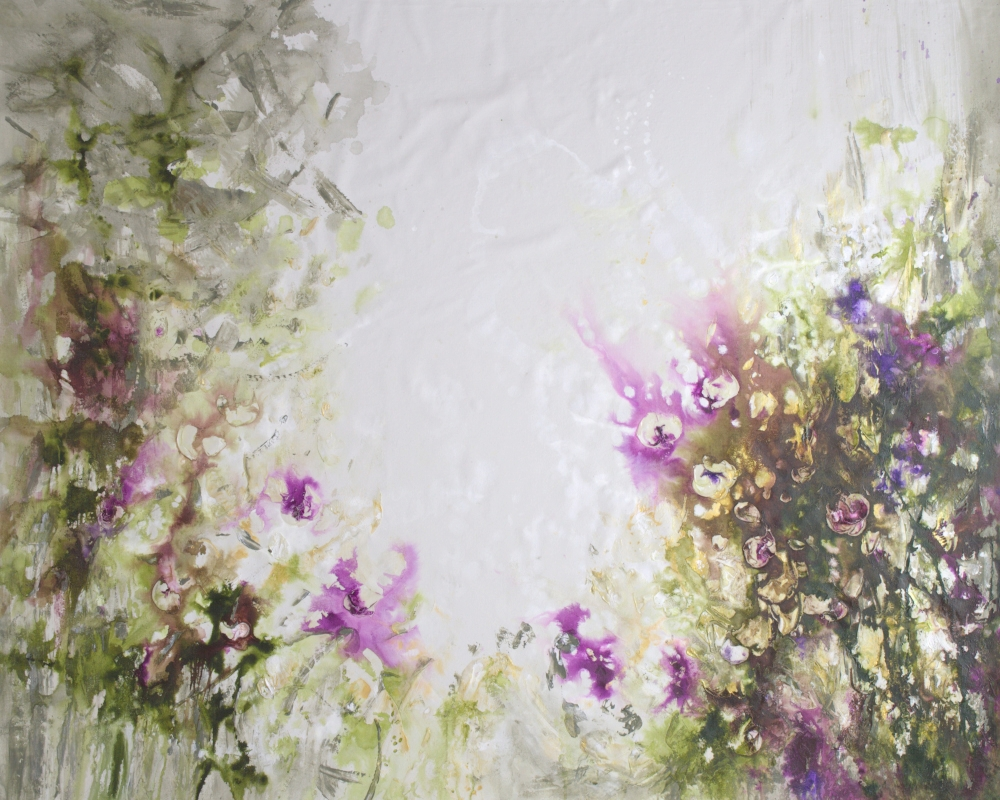 Purple Garden - 47 x 58.5 - available