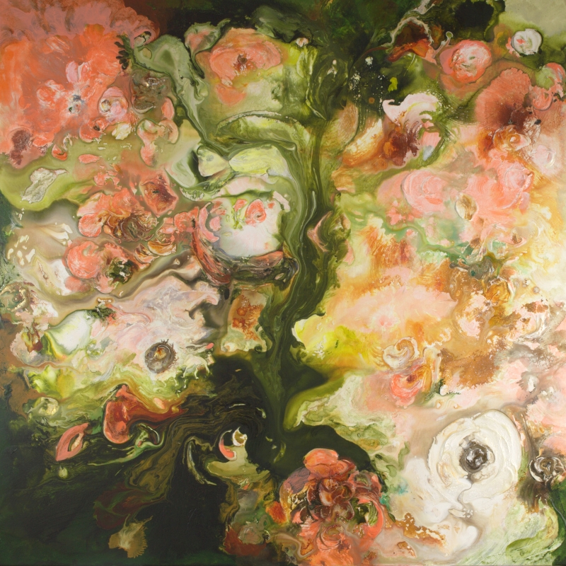 Coral Floral - 36x36 - Available