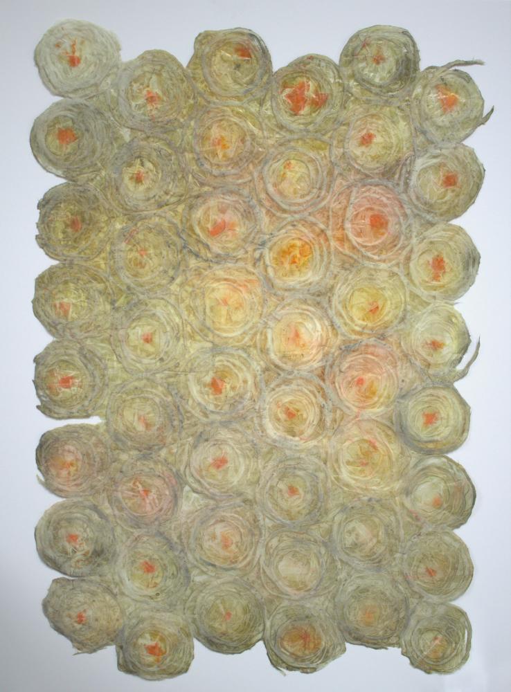 Rice Paper Champagne Bubbles II - 37 x 25