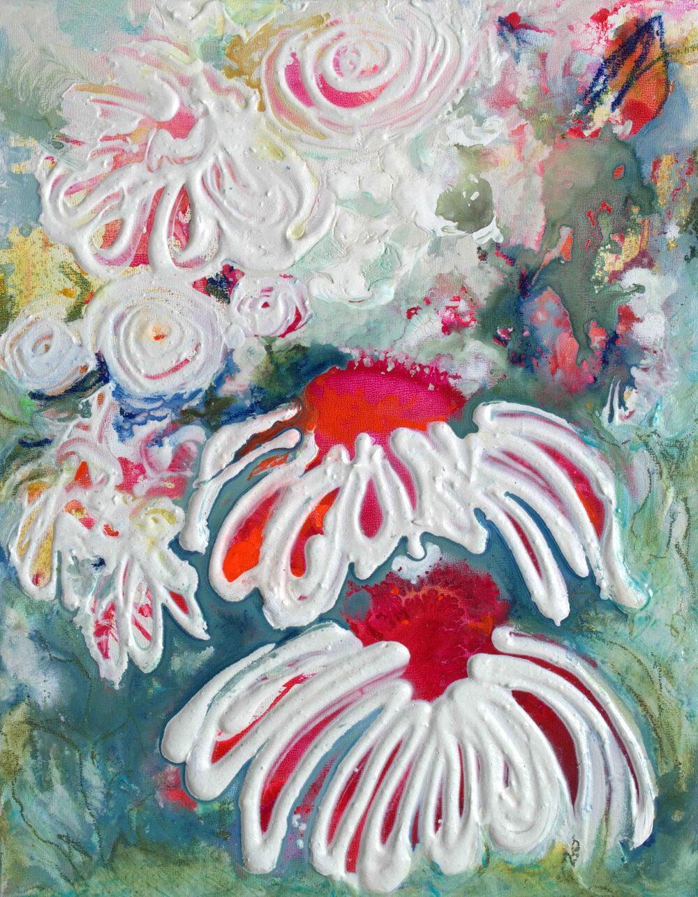 Vivacious Floral IX - 14x11 - available