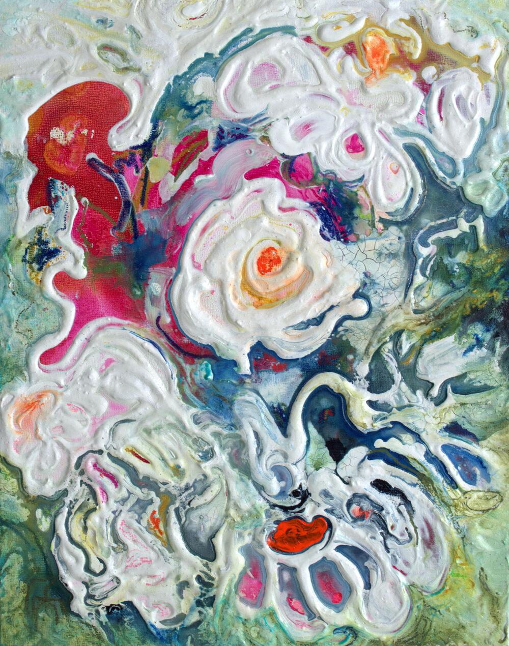 Vivacious Floral X - 14 x 11