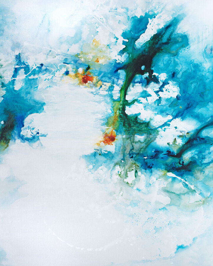 Ethereal Jewel Tones - 56x73 - available