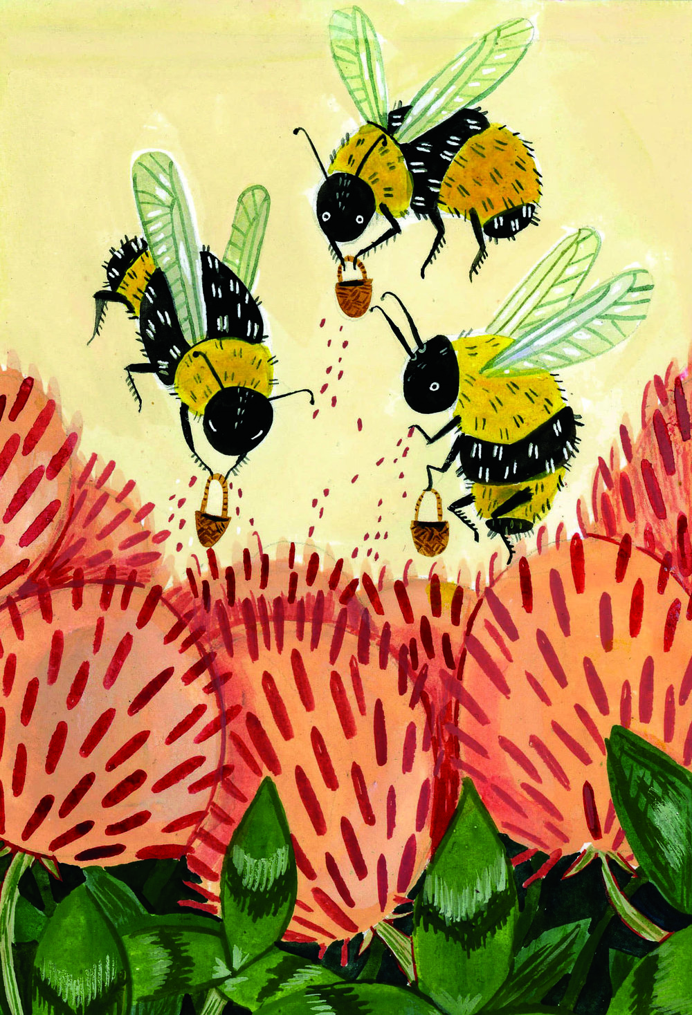 Pollinating Bees with Border