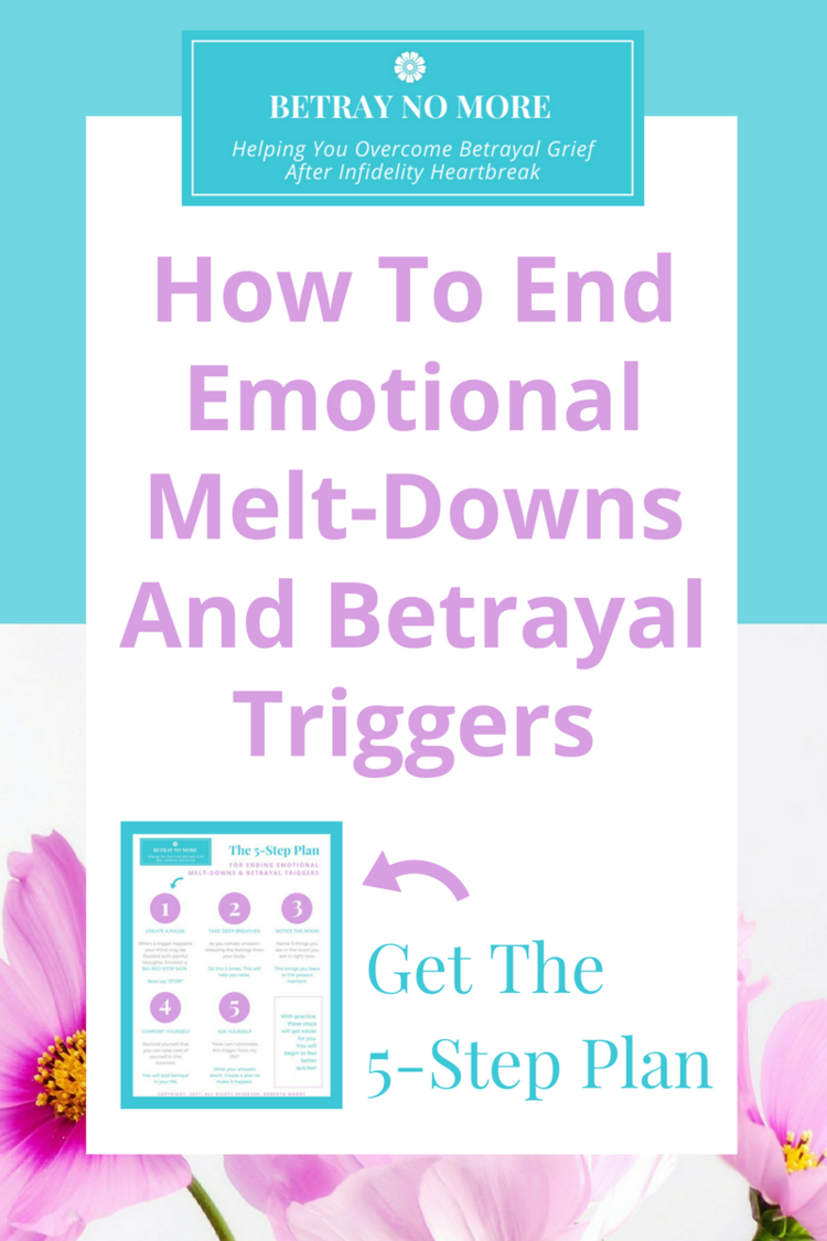 the 5 step plan for ending emotional melt downs and betrayal triggers