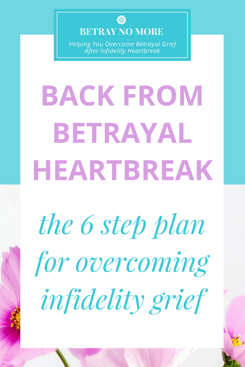 Back From Betrayal Heartbreak: The 6 Step Plan For Overcoming Infidelity Grief And Healing Your Heart